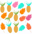 pineapple seamless pattern it is located in vector image vector image