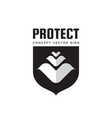 protect shield - concept logo design protection vector image
