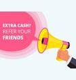 refer friend poster referral program concept vector image