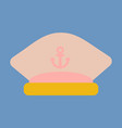 sailors cap with an anchor captains hat vector image