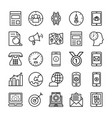 seo and marketing line icons 2 vector image vector image