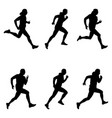 set men runner vector image