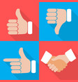 set of hands with fingers on different vector image vector image
