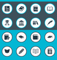 set of simple reading icons vector image vector image