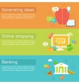 set of social business life horizontal banners vector image vector image