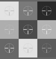 sight sign grayscale version vector image vector image