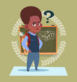 small african american school boy standing over vector image vector image