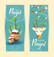 south indian festival pongal background template vector image vector image