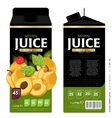 Template Packaging Design Apricot Juice vector image vector image