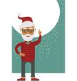 Trendy Santa vector image vector image