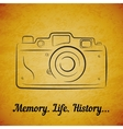 vintage film photocamera vector image
