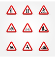 Warning traffic signs vector image vector image