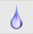 water drop isolated vector image vector image