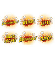 Wordings on cloud explosion vector image