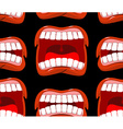Yells lips seamless pattern cry background vector image vector image