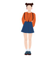 young student girl flat vector image vector image