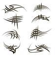 Set of Different Tribal Tattoo Design vector image