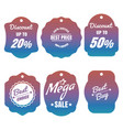 colorful discount and sale labels vector image