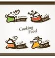 Cooking symbols vector image