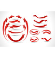ribbon set design vector image