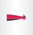 3d arrow go forward icon vector image