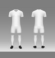 3d realistic template soccer kit vector image vector image