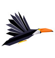 abstract low poly toucan logo vector image vector image