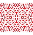 abstract red rose pattern vector image vector image