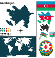 Azerbaijan map world vector image vector image