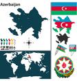azerbaijan world vector image vector image