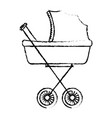 baby car small vector image vector image