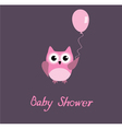 baby shower owl vector image