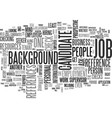 background checks and balances text word cloud vector image vector image