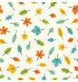 beautiful leaves colourful seamless pattern vector image vector image