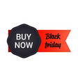 black friday sticker or discount banner holiday vector image vector image