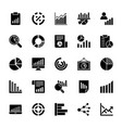 business charts and diagrams solid icons 2 vector image vector image