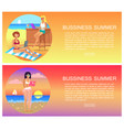 business summer pages set vector image vector image