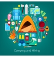 Camping and Hiking Icons Healthy Lifestyle