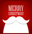 Christmas card with a beard and mustache Santa vector image
