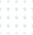 cloud protection icon pattern seamless white vector image vector image