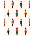 colorful christmas nutcrackers seamless pattern vector image vector image