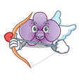 cupid orchid flower character cartoon vector image vector image