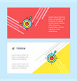 dart game abstract corporate business banner vector image vector image