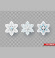 decorative 3d snowflakes for christmas design vector image