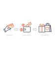 earn points benefits program shopping reward vector image vector image