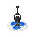 electric fan hanging air vector image