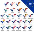 EU flags vector image