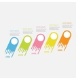 Five step Timeline Infographic diagonal Colorful vector image vector image