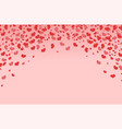 frame in form an arch with hearts vector image vector image