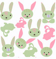 funny bunny seamless pattern it is located in vector image